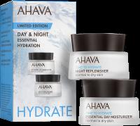 Ahava Time to Hydrate Day & Night Essential Hydration Kit = Essential Day Moisturizer 15 ml+ Night Replenisher 15 ml