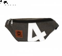360° Knoten Bum Bag | Gürteltasche grau Zahl weiß