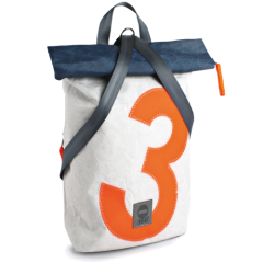360° Möwe | weiß-blau Zahl orange