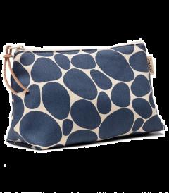 Gyllstad Kulturtasche L STENAR, blau auf weiß