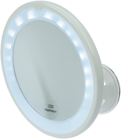 Fantasia Spiegel, Saugfuß, LED