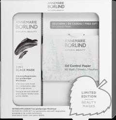Annemarie Börlind 2 IN 1 Black Mask + Oil Control Paper