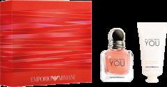 Giorgio Armani Emporio Armani In Love with You Set =  E.d.P. Nat. Spray 30 ml + Handlotion 50 ml