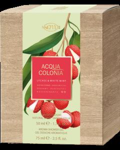 No.4711 Acqua Colonia Lychee & White Mint Set = E.d.C. Nat. Spray 50 ml + Duschgel 75 ml