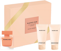 Narciso Rodriguez Narciso Ambrée Set = E.d.P. Nat. Spray 50 ml + Body Lotion 50 ml + Shower Gel 50 ml