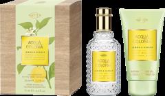 No.4711 Acqua Colonia Lemon & Ginger Set = E.d.C. Nat. Spray 50 ml + Aroma Shower Gel 75 ml