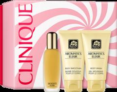 Clinique Aromatics Elixir Essentials Set = Perfume Spray 45 ml + Body Smoother 75 ml + Body Wash 75 ml
