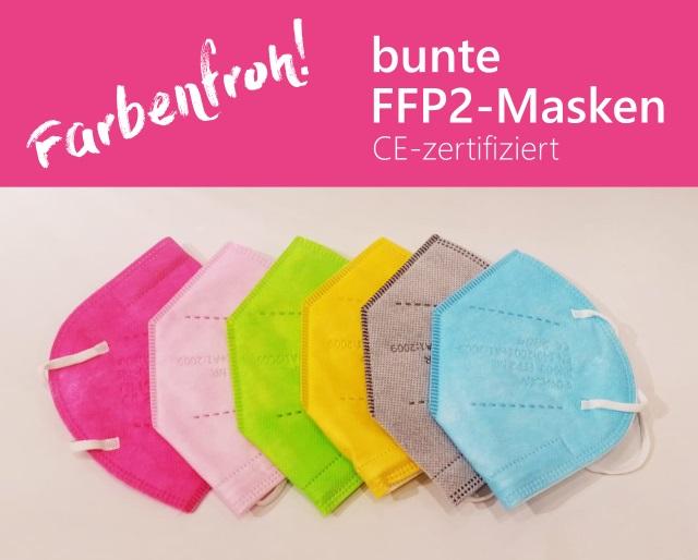 Parfümerie Kaland - bunte FFP2-Maske